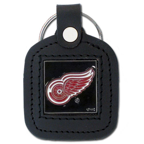 NHL Sq. Leather Key Ring - Detroit Red Wings - This square NHL Detroit Red Wings key ring features fine leather surrounding a sculpted and enameled Detroit Red Wings logo. Check out our entire line of Detroit Red Wings sports merchandise! Thank you for visiting CrazedOutSports