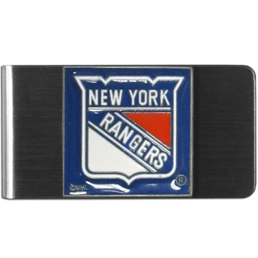 New York Rangers® Steel Money Clip - Our stainless steel money clip has classic style and team pride wrap up in a beautiful package. The attractive clip features a metal New York Rangers® emblem with expertly enameled detail