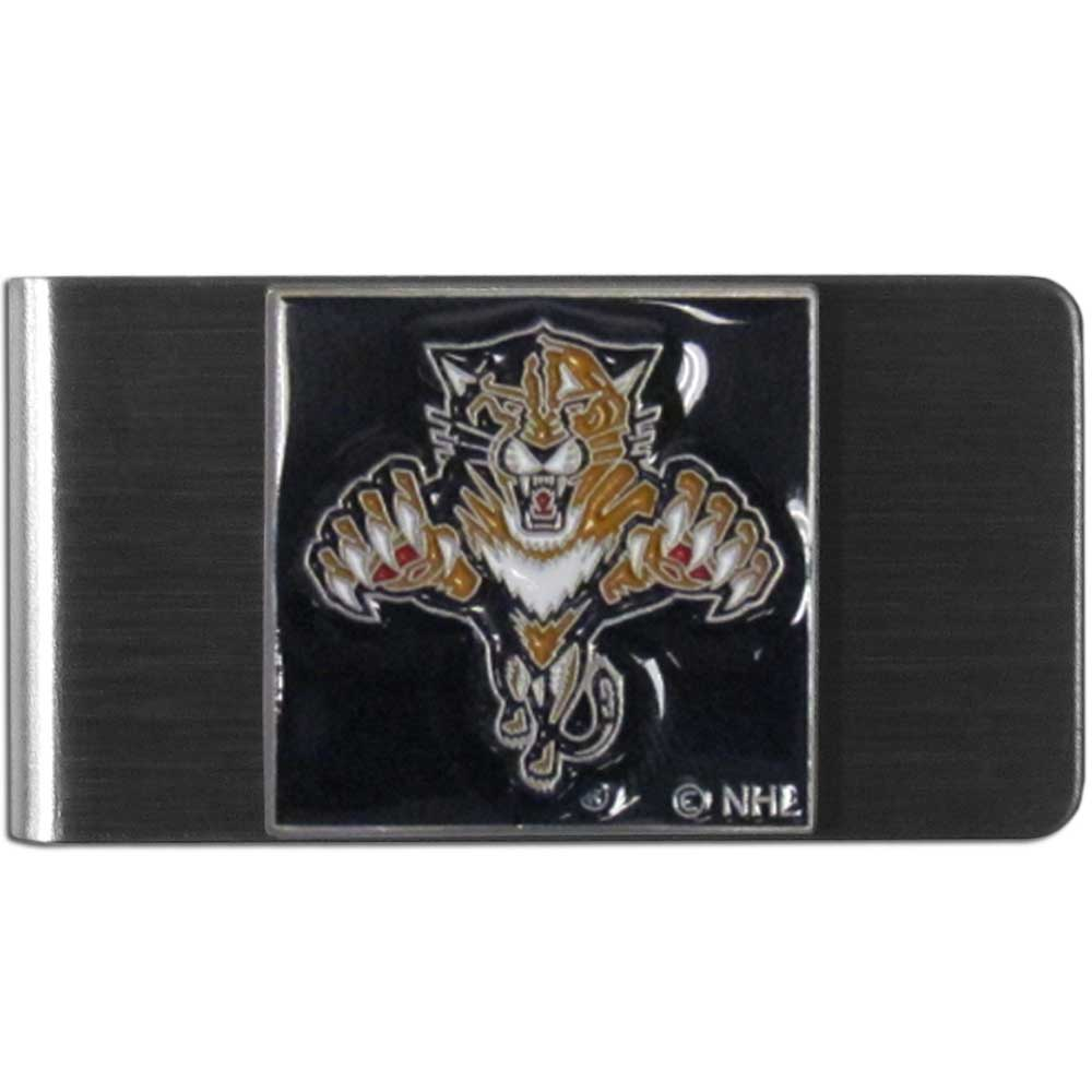 Florida Panthers® Steel Money Clip - Our stainless steel money clip has classic style and team pride wrap up in a beautiful package. The attractive clip features a metal Florida Panthers® emblem with expertly enameled detail