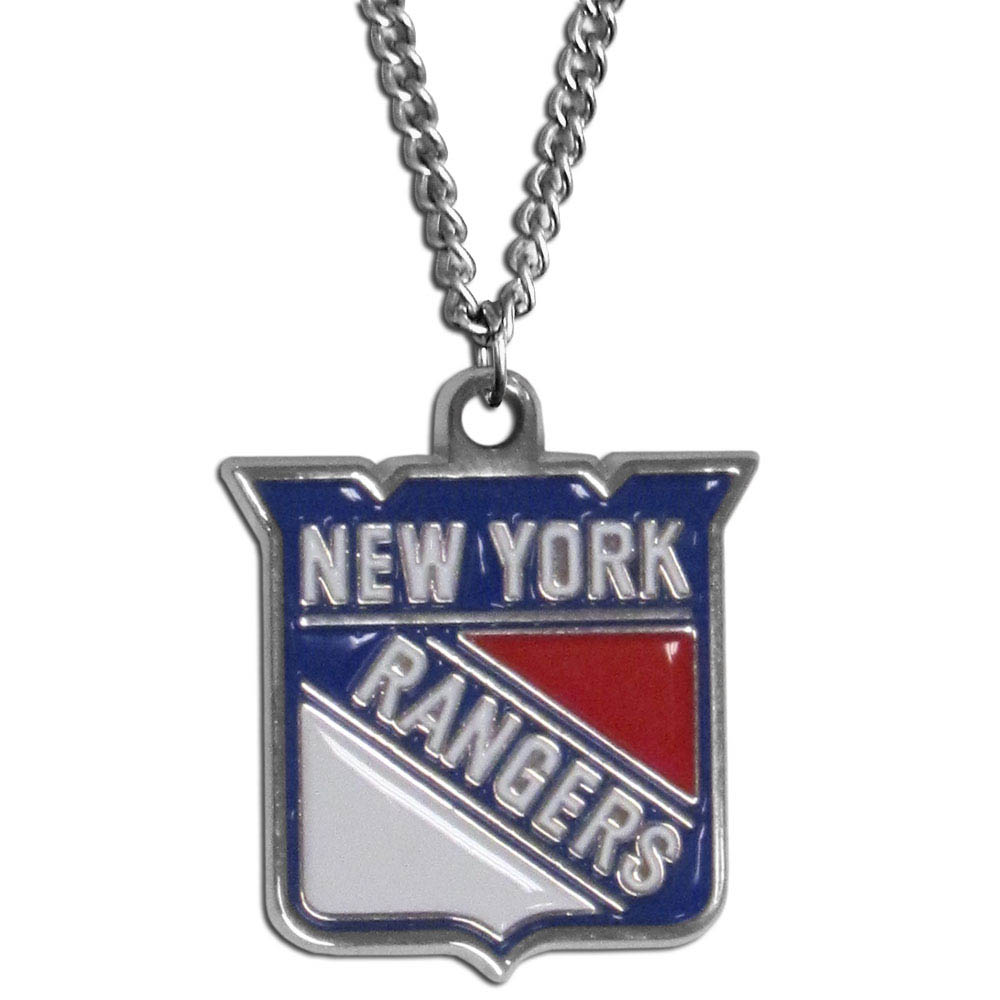 New York Rangers® Chain Necklace - Make a statement with our chain necklaces. The 22 inch chain features a fully cast, metal New York Rangers® pendant with vivid enameled details. Perfect accessory for game day and nice enough to wear everyday!
