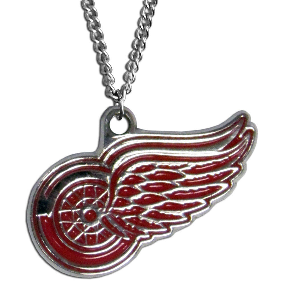 Detroit Red Wings® Chain Necklace - Make a statement with our chain necklaces. The 22 inch chain features a fully cast, metal Detroit Red Wings® pendant with vivid enameled details. Perfect accessory for game day and nice enough to wear everyday!