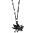 San Jose Sharks Chain Necklace with Small Charm - Make a statement with our NHL San Jose Sharks Chain Necklace with Small Charm. The 20 inch San Jose Sharks Chain Necklace with Small Charm features a fully cast, high polish San Jose Sharks pendant with vivid enameled San Jose Sharks details. Perfect accessory for a San Jose Sharks game day and nice enough to wear everyday!