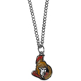 Ottawa Senators Chain Necklace with Small Charm - Make a statement with our NHL Ottawa Senators Chain Necklace with Small Charm. The 20 inch Ottawa Senators Chain Necklace with Small Charm features a fully cast, high polish Ottawa Senators pendant with vivid enameled Ottawa Senators details. Perfect accessory for a Ottawa Senators game day and nice enough to wear everyday!