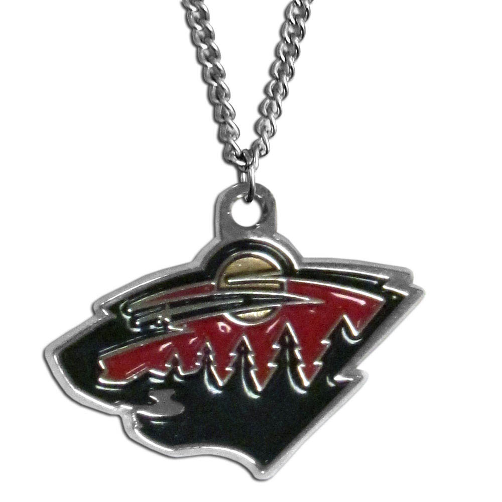 Minnesota Wild® Chain Necklace - Make a statement with our chain necklaces. The 22 inch chain features a fully cast, metal Minnesota Wild® pendant with vivid enameled details. Perfect accessory for game day and nice enough to wear everyday!
