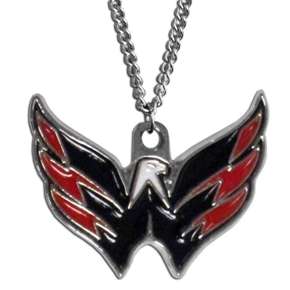 Washington Capitals® Chain Necklace - Make a statement with our chain necklaces. The 22 inch chain features a fully cast, metal Washington Capitals® pendant with vivid enameled details. Perfect accessory for game day and nice enough to wear everyday!