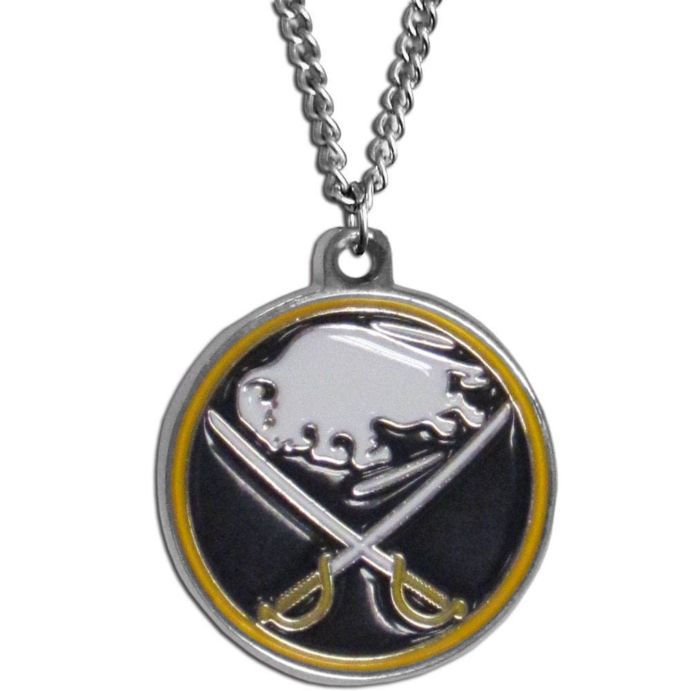 Buffalo Sabres® Chain Necklace - Make a statement with our chain necklaces. The 22 inch chain features a fully cast, metal Buffalo Sabres® pendant with vivid enameled details. Perfect accessory for game day and nice enough to wear everyday!