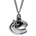 Vancouver Canucks Chain Necklace - Make a statement with our NHL Vancouver Canucks Chain Necklace. The 20 inch Vancouver Canucks Chain Necklace features a fully cast, metal Vancouver Canucks pendant with vivid enameled Vancouver Canucks details. Perfect accessory for a Vancouver Canucks game day and nice enough to wear everyday! Thank you for visiting CrazedOutSports