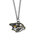 Nashville Predators Chain Necklace with Small Charm - Make a statement with our NHL Nashville Predators Chain Necklace with Small Charm. The 20 inch Nashville Predators Chain Necklace with Small Charm features a fully cast, high polish Nashville Predators pendant with vivid enameled Nashville Predators details. Perfect accessory for a Nashville Predators game day and nice enough to wear everyday!
