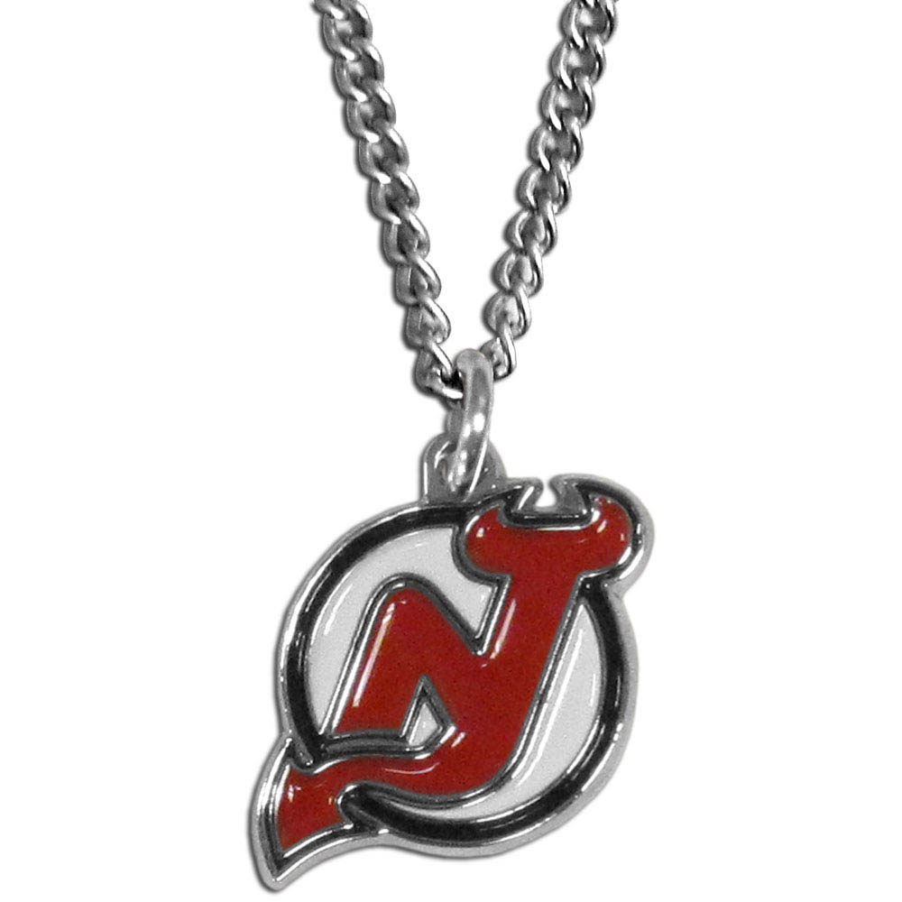 New Jersey Devils® Chain Necklace - Make a statement with our chain necklaces. The 22 inch chain features a fully cast, metal New Jersey Devils® pendant with vivid enameled details. Perfect accessory for game day and nice enough to wear everyday!