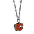 Calgary Flames Chain Necklace with Small Charm - Make a statement with our NHL Calgary Flames Chain Necklace with Small Charm. The 20 inch Calgary Flames Chain Necklace with Small Charm features a fully cast, high polish Calgary Flames pendant with vivid enameled Calgary Flames details. Perfect accessory for a Calgary Flames game day and nice enough to wear everyday! Thank you for visiting CrazedOutSports