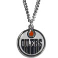 Edmonton Oilers Chain Necklace - Make a statement with our NHLEdmonton Oilers Chain Necklace. The 20 inch Edmonton Oilers Chain Necklace features a fully cast, metal Edmonton Oilers pendant with vivid enameled Edmonton Oilers details. Perfect accessory for  a Edmonton Oilers game day and nice enough to wear everyday!