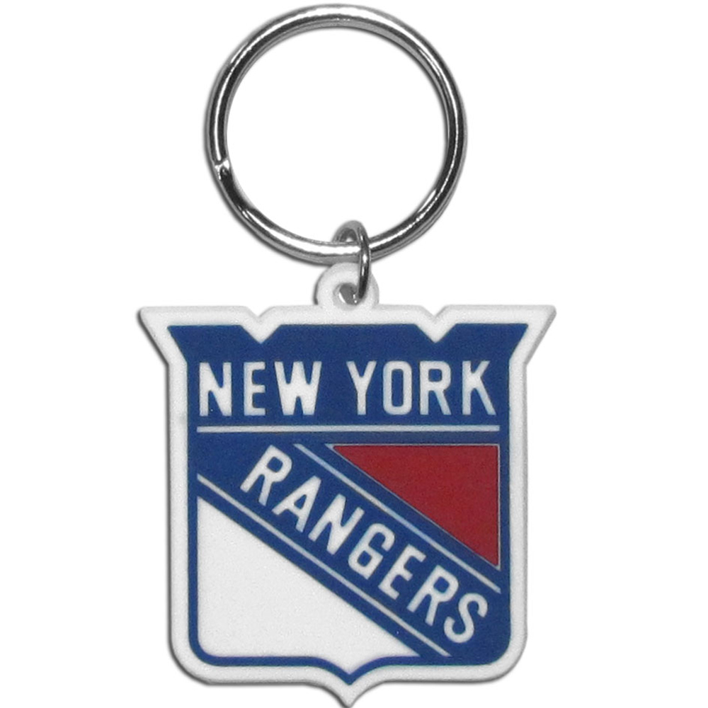 New York Rangers® Flex Key Chain - Our fun, flexible New York Rangers® key chains are made of a rubbery material that is layered to create a bright, textured logo.