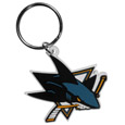 San Jose Sharks® Flex Key Chain - Our fun, flexible San Jose Sharks® key chains are made of a rubbery material that is layered to create a bright, textured logo.