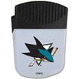 San Jose Sharks Chip Clip Magnet - Use this attractive San Jose Sharks clip magnet to hold memos, photos or appointment cards on the fridge or take it down keep use it to clip bags shut. The San Jose Sharks clip magnet features a silk screened San Jose Sharks logo.