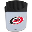 Carolina Hurricanes Chip Clip Magnet - Use this attractive Carolina Hurricanes clip magnet to hold memos, photos or appointment cards on the fridge or take it down keep use it to clip bags shut. The Carolina Hurricanes magnet features a silk screened Carolina Hurricanes logo.