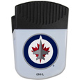 Winnipeg Jets Chip Clip Magnet - Use this attractive Winnipeg Jets clip magnet to hold memos, photos or appointment cards on the fridge or take it down keep use it to clip bags shut. The Winnipeg Jets magnet features a silk screened Winnipeg Jets logo.