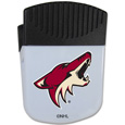 Arizona Coyotes Chip Clip Magnet - Use this attractive Arizona Coyotes chip clip magnet to hold memos, photos or appointment cards on the fridge or take it down keep use it to clip bags shut. The Arizona Coyotes Chip Clip magnet features a silk screened Arizona Coyotes logo.