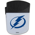 Tampa Bay Lightning Chip Clip Magnet - Use this attractive Tampa Bay Lightning clip magnet to hold memos, photos or appointment cards on the fridge or take it down keep use it to clip bags shut. The Tampa Bay Lightning magnet features a silk screened Tampa Bay Lightning logo.
