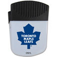 Toronto Maple Leafs  Chip Clip Magnet - Use this attractive Toronto Maple Leafs clip magnet to hold memos, photos or appointment cards on the fridge or take it down keep use it to clip bags shut. The Toronto Maple Leafs magnet features a silk screened Toronto Maple Leafs logo.