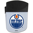 Edmonton Oilers Chip Clip Magnet - Use this attractive Edmonton Oilers clip magnet to hold memos, photos or appointment cards on the fridge or take it down keep use it to clip bags shut. The Edmonton Oilers magnet features a silk screened Edmonton Oilers logo.