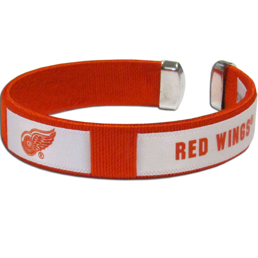 Detroit Red Wings® Fan Bracelet - Our Fan Bracelet is a one size fits all string cuff bracelets with a screen printed ribbon with the team Detroit Red Wings® name and logo.