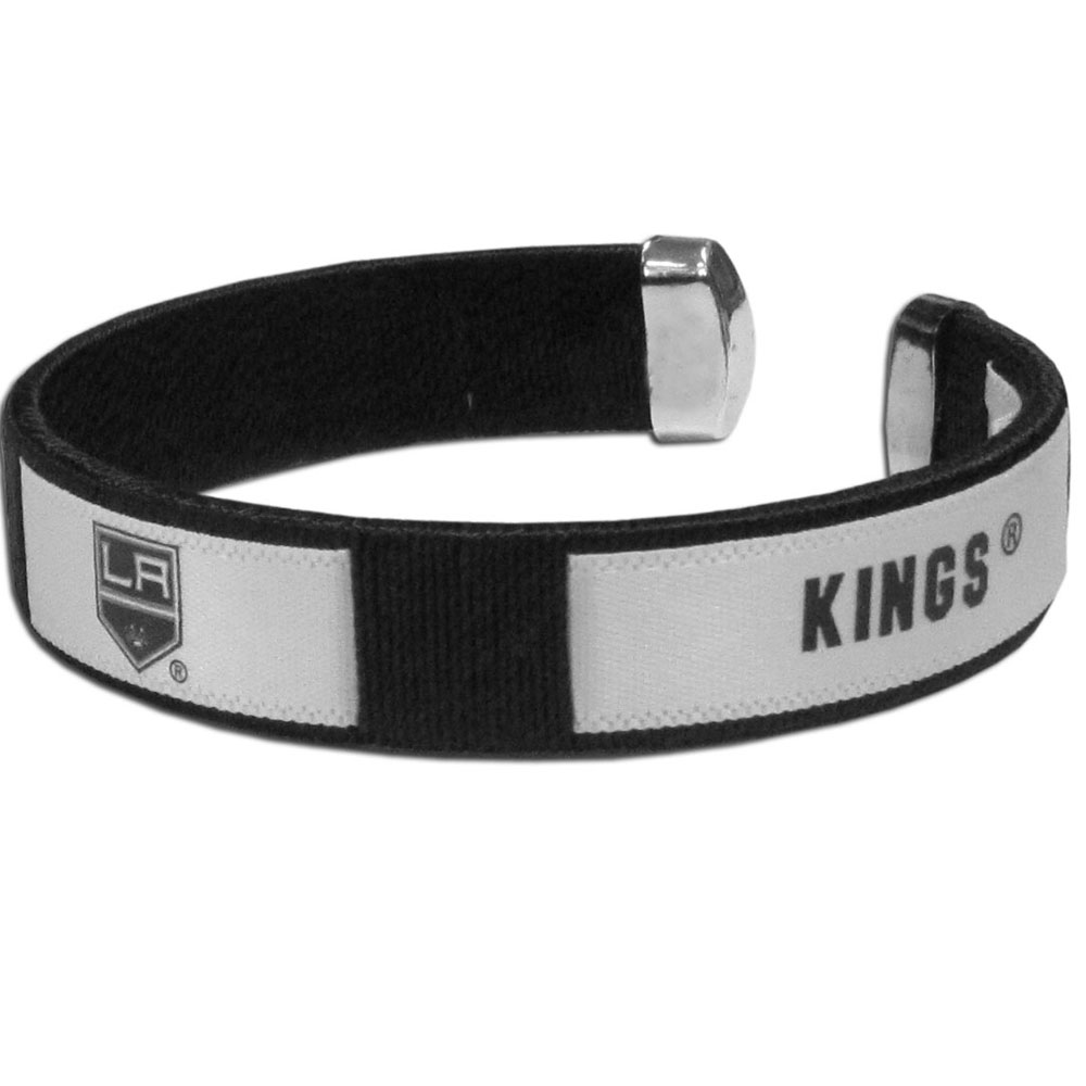 Los Angeles Kings® Fan Bracelet - Our Fan Bracelet is a one size fits all string cuff bracelets with a screen printed ribbon with the team Los Angeles Kings® name and logo.