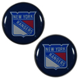 New York Rangers Ear Gauge Pair  - Officially licensed New York Rangers ear plugs are double flared for a snug fit and the back screws on and off. They are made of quality 316L stainless steel and feature an inlaid New York Rangers logo.