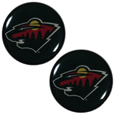 Minnesota Wild Ear Gauge Pair - Officially licensed Minnesota Wild ear plugs are double flared for a snug fit and the back screws on and off. They are made of quality 316L stainless steel and feature an inlaid Minnesota Wild logo.