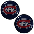 Montreal Canadiens Ear Gauge Pair  - Officially licensed Montreal Canadiens ear plugs are double flared for a snug fit and the back screws on and off. They are made of quality 316L stainless steel and feature an inlaid Montreal Canadiens logo.