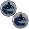 Vancouver Canucks Ear Gauge Pair  - Officially licensed Vancouver Canucks ear plugs are double flared for a snug fit and the back screws on and off. They are made of quality 316L stainless steel and feature an inlaid Vancouver Canucks logo.