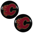Calgary Flames Ear Gauge Pair  - Officially licensed Calgary Flames ear plugs are double flared for a snug fit and the back screws on and off. They are made of quality 316L stainless steel and feature an inlaid Calgary Flames logo.