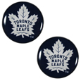 Toronto Maple Leafs Ear Gauge Pair  - Officially licensed Toronto Maple Leafs ear plugs are double flared for a snug fit and the back screws on and off. They are made of quality 316L stainless steel and feature an inlaid Toronto Maple Leafs logo.
