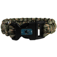 San Jose Sharks  Camo Survivor Bracelet - Our functional and fashionable San Jose Sharks  camo survivor bracelets contain 2 individual 300lb test paracord rated cords that are each 5 feet long. The camo cords can be pulled apart to be used in any number of emergencies and look great while worn. The bracelet features a team emblem on the clasp.  Thank you for visiting CrazedOutSports