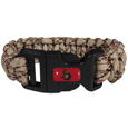 Ottawa Senators  Camo Survivor Bracelet - Our functional and fashionable Ottawa Senators  camo survivor bracelets contain 2 individual 300lb test paracord rated cords that are each 5 feet long. The camo cords can be pulled apart to be used in any number of emergencies and look great while worn. The bracelet features a team emblem on the clasp.