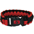 Ottawa Senators  Survivor Bracelet - Our functional and fashionable Ottawa Senators  survivor bracelets contain 2 individual 300lb test paracord rated cords that are each 5 feet long. The team colored cords can be pulled apart to be used in any number of emergencies and look great while worn. The bracelet features a team emblem on the clasp. Thank you for visiting CrazedOutSports