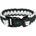Dallas Stars Survivor Bracelet - Our functional and fashionable Dallas Stars survivor bracelets contain 2 individual 300lb test paracord rated cords that are each 5 feet long. The team colored cords can be pulled apart to be used in any number of emergencies and look great while worn. The bracelet features a team emblem on the clasp. Thank you for visiting CrazedOutSports