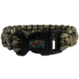 Minnesota Wild  Camo Survivor Bracelet - Our functional and fashionable Minnesota Wild  camo survivor bracelets contain 2 individual 300lb test paracord rated cords that are each 5 feet long. The camo cords can be pulled apart to be used in any number of emergencies and look great while worn. The bracelet features a team emblem on the clasp.  Thank you for visiting CrazedOutSports