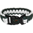 Minnesota Wild Survivor Bracelet - This functional and fashionable Minnesota Wild survivor bracelets contain 2 individual 300lb test paracord rated cords that are each 5 feet long. The Minnesota Wild Survivor Bracelet team colored cords can be pulled apart to be used in any number of emergencies and look great while worn. The Minnesota Wild Survivor Bracelet features a team emblem on the clasp. Thank you for visiting CrazedOutSports