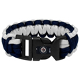 Winnipeg Jets Survivor Bracelet - Our functional and fashionable Winnipeg Jets  survivor bracelets contain 2 individual 300lb test paracord rated cords that are each 5 feet long. The team colored cords can be pulled apart to be used in any number of emergencies and look great while worn. The bracelet features a team emblem on the clasp.