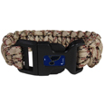 St. Louis Blues  Camo Survivor Bracelet - Our functional and fashionable St. Louis Blues  camo survivor bracelets contain 2 individual 300lb test paracord rated cords that are each 5 feet long. The camo cords can be pulled apart to be used in any number of emergencies and look great while worn. The bracelet features a team emblem on the clasp.  Thank you for visiting CrazedOutSports