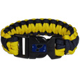 St. Louis Blues Survivor Bracelet - Our functional and fashionable St. Louis Blues survivor bracelets contain 2 individual 300lb test paracord rated cords that are each 5 feet long. The team colored cords can be pulled apart to be used in any number of emergencies and look great while worn. The bracelet features a team emblem on the clasp.