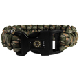 Boston Bruins  Camo Survivor Bracelet - Our functional and fashionable Boston Bruins  camo survivor bracelets contain 2 individual 300lb test paracord rated cords that are each 5 feet long. The camo cords can be pulled apart to be used in any number of emergencies and look great while worn. The bracelet features a team emblem on the clasp.  Thank you for visiting CrazedOutSports