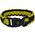Boston Bruins  Survivor Bracelet - Our functional and fashionable Boston Bruins  survivor bracelets contain 2 individual 300lb test paracord rated cords that are each 5 feet long. The team colored cords can be pulled apart to be used in any number of emergencies and look great while worn. The bracelet features a team emblem on the clasp. Thank you for visiting CrazedOutSports