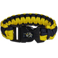 Nashville Predators Survivor Bracelet - Our functional and fashionable Nashville Predators survivor bracelets contain 2 individual 300lb test paracord rated cords that are each 5 feet long. The team colored cords can be pulled apart to be used in any number of emergencies and look great while worn. The bracelet features a team emblem on the clasp.