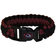 Colorado Avalanche Survivor Bracelet - Super functional and fashionable Colorado Avalanche survivor bracelets contain 2 individual 300lb test paracord rated cords that are each 5 feet long. The Colorado Avalanche colored cords can be pulled apart to be used in any number of emergencies and look great while worn. The Colorado Avalanche survivor bracelets features a Colorado Avalanche emblem on the clasp.