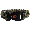 Calgary Flames  Camo Survivor Bracelet - Our functional and fashionable Calgary Flames  camo survivor bracelets contain 2 individual 300lb test paracord rated cords that are each 5 feet long. The camo cords can be pulled apart to be used in any number of emergencies and look great while worn. The bracelet features a team emblem on the clasp.  Thank you for visiting CrazedOutSports