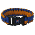 Edmonton Oilers  Survivor Bracelet - Our functional and fashionable Edmonton Oilers  survivor bracelets contain 2 individual 300lb test paracord rated cords that are each 5 feet long. The team colored cords can be pulled apart to be used in any number of emergencies and look great while worn. The bracelet features a team emblem on the clasp.