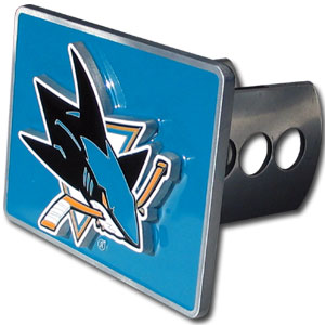 NHL Hitch Cover - San Jose Sharks - NHL San Jose Sharks Trailer Hitch Cover is hand painted with 3-D San Jose Sharks carved logo. Hardware included. Fits standard hitches. Enameled on durable, rust-proof zinc. Thank you for visiting CrazedOutSports