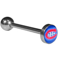 Montreal Canadiens  Inlaid Barbell Tongue Ring - Show off your team pride with our officially licensed Montreal Canadiens   tongue ring. The 1 inch barbell features a photo epoxy inlay logo. Officially licensed NHL product Licensee: Siskiyou Buckle. !