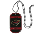 Minnesota Wild Tag Necklace - Expertly crafted Minnesota Wild tag necklaces featuring fine detailing and a hand enameled finish with chrome accents. 26 inch chain. Thank you for visiting CrazedOutSports